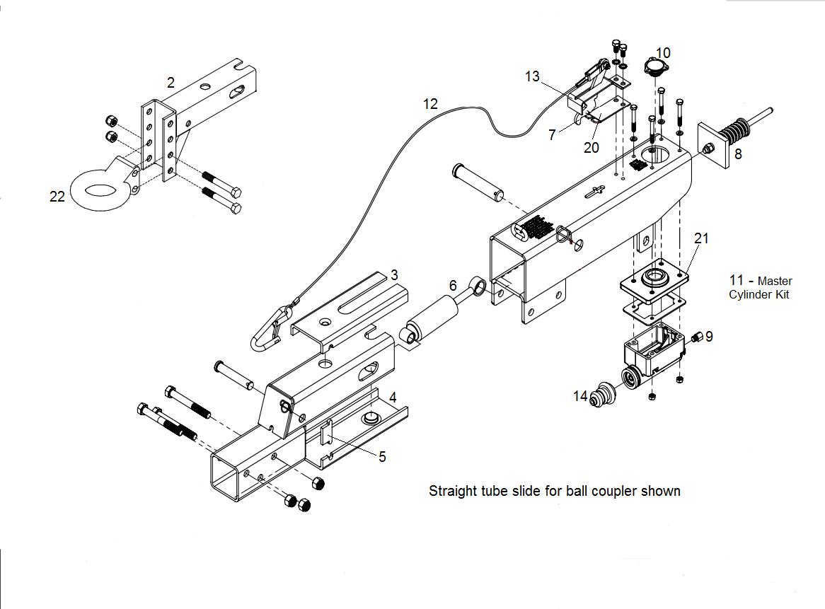612thg Surge Brakes Actuator Parts Centreville Trailer Parts Llc